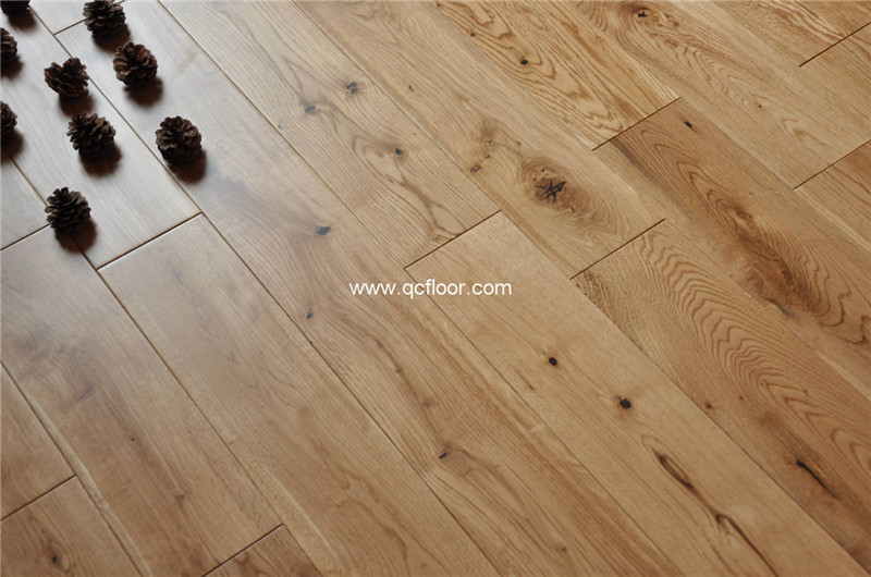 125mm wide natural white oak solid wood flooring