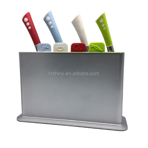 Kitchen Chopping Blocks 9 in 1 Plastic Cutting Board Knife Set With Holder