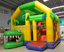 Wholesale inflatable Crocodile combo moonwalk/ jumper/bounce house/inflatable jumping castle