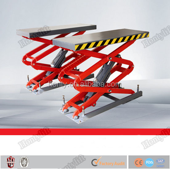 stationary scissor electric car lift platform electric lift table used motorcycle lifts