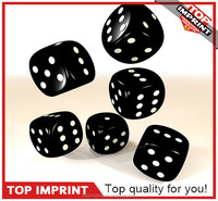 10mm Party Use White Color Black Dots Play Game Dice