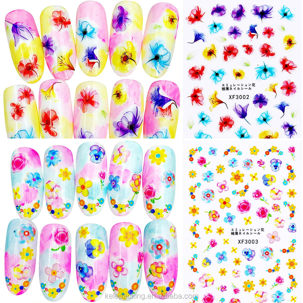 Hot sell professional about 100set stype ultrathin translucence postage stamp gum Japanese korea gel nail stickers