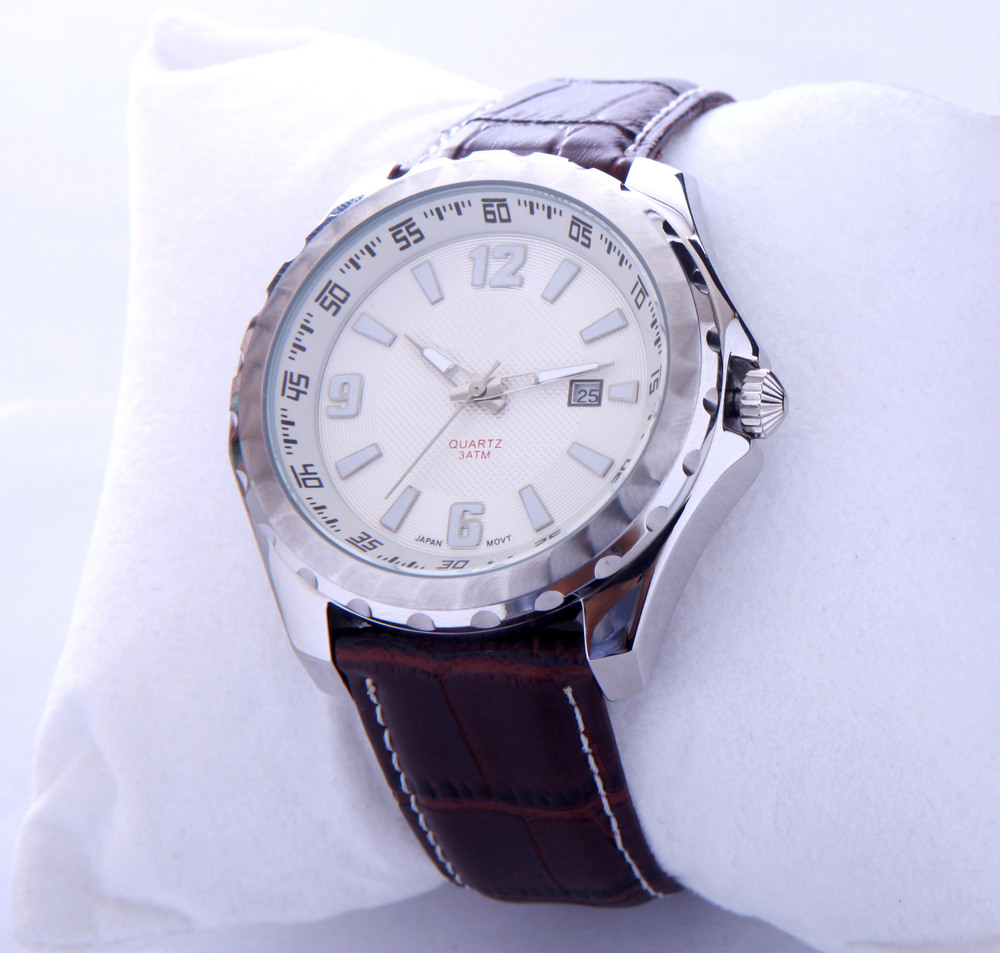 Japan movt watch,leather watch,quartz stainless steel watch water resistant