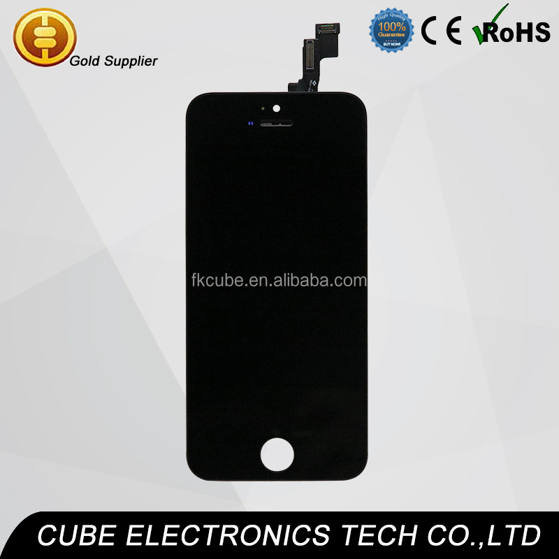CUBE New arrival!! For Apple iPhone 5S LCD assembly iphone5S lcd digitizer display Screen with Touch Digitizer 5g 5c 5s