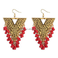 Wholesale fashion gold dangle indian earring