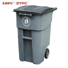 New design colorful HDPE Advertising Plastic trash bin