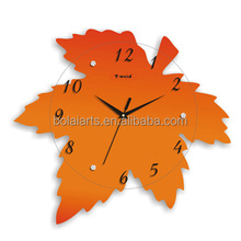 simple design glass wall clock for promotion