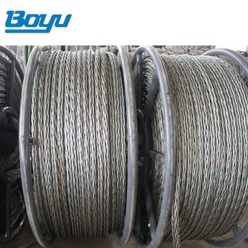 Galvanized steel anti-twisting braided steel pilot rope