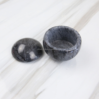 Wholesale marble stone canister with lid