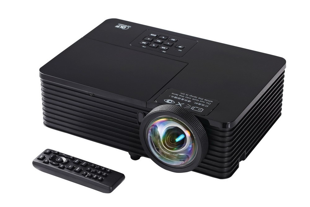 3500 ANSI Lumens New short throw support 720p 1080p HD Portable DLP Shutter 3D Projector proyector build in speaker VGA