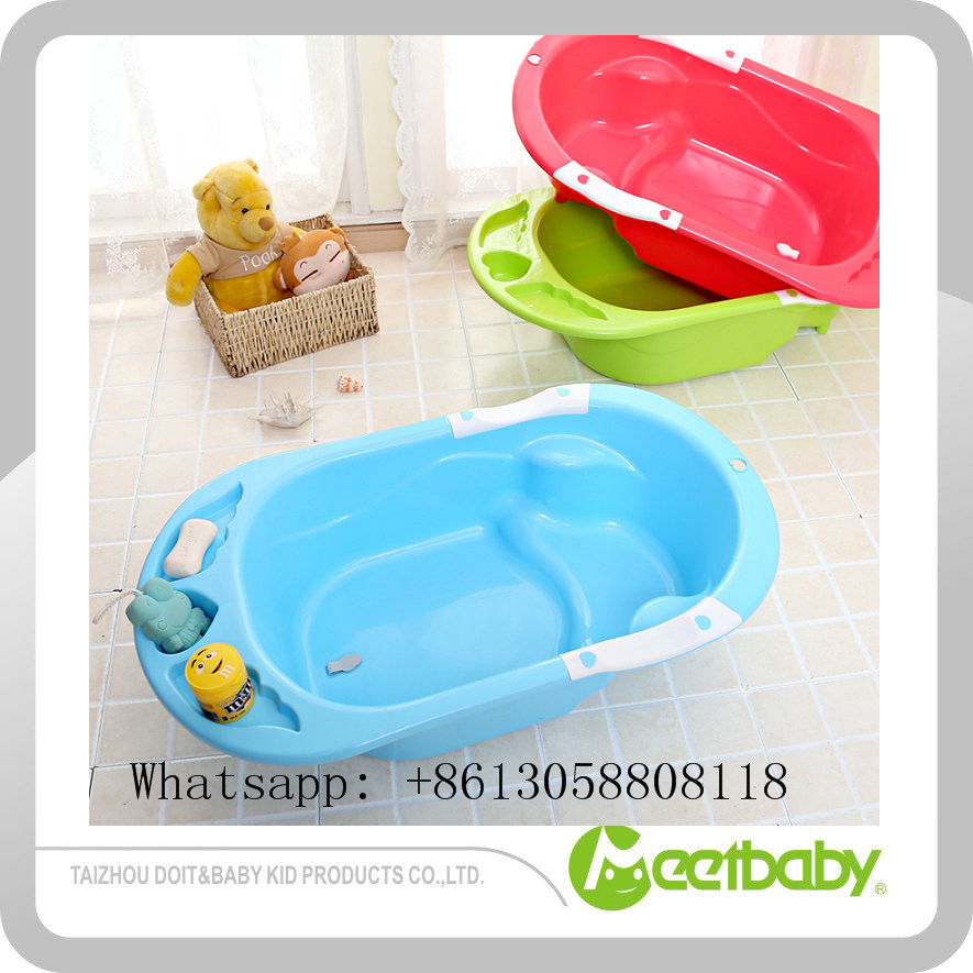 Kid Bath Large Pure Color Plastic Bathtub Baby Plastic Bath Children Products