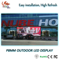 RGX P8 High Brightness Outdoor Digital Commercial Advertising Full Color LED Display with waterproof