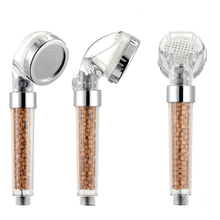 New product bathroom water saving Ionic Filter Handheld Shower Head Ion Mineral Balls rainfall shower