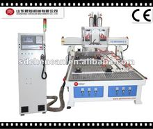 three spindle cnc router with side-hole drilling