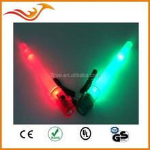 colorful LED glowstick transparent light with whistle for KTV convert and so on
