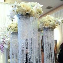 (within 30 days can out order )Crystal hanging centerpiece/ wedding floor chandeliers/ flower stands