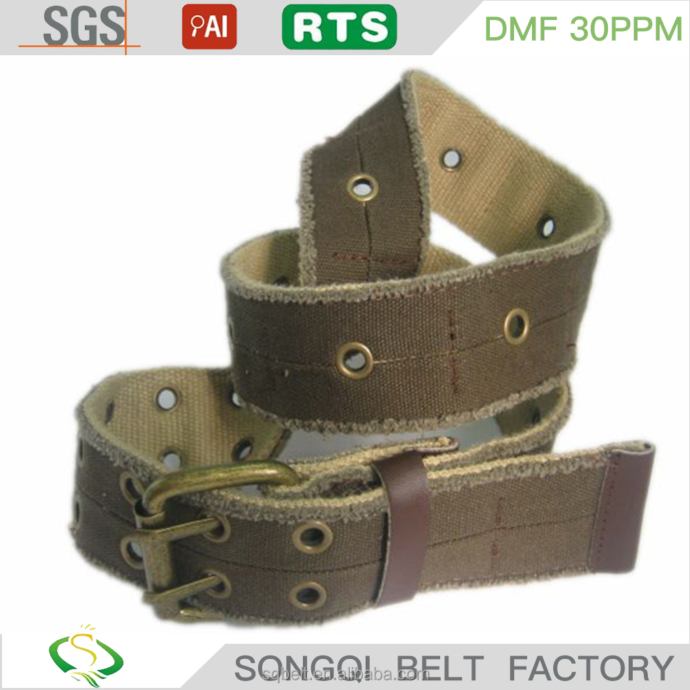 brass buckle custom charming outdoor climbing canvas belt