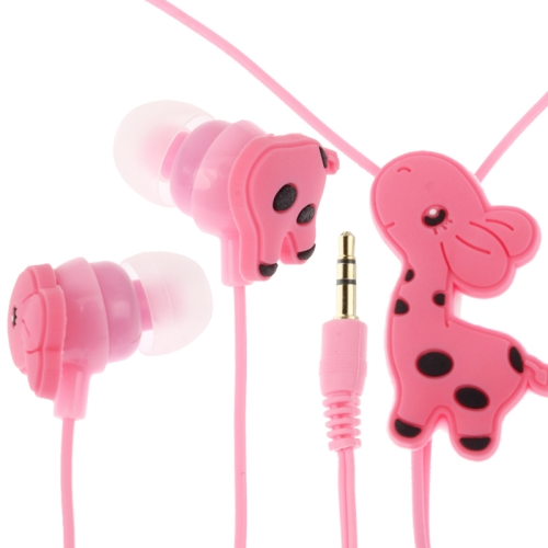 Big stock wholesale cheap 3.5mm Cute Giraffe In Ear Earphone for MP3 / MP4 / iPod / iPhone with fast shipping
