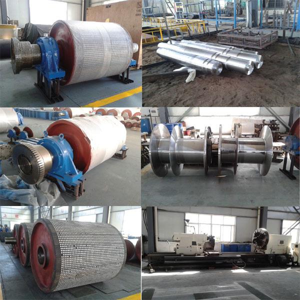 800mm Dia. Rubber Lagging Steel Belt Conveyor Drive Drum Pulley