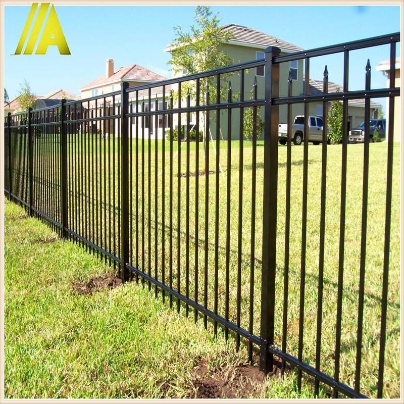 Powder coating backyard black aluminum fence with