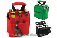 2015 Customized Outdoor Picnic Insulated 6 Bottle Wine Cooler Bag