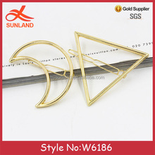 W6186 New fashion Moon Hair Pin Crescent Moon Hairpin Gold OR Silver Crescent Moon Hair Clip