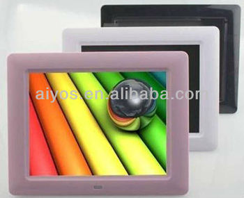 photo picture frame 7 inch support music,photo,video auto and loop play