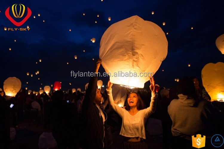 hot sale biodegradable Chinese sky lantern sky lamp wish lantern with fuel cell
