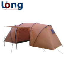 outdoor 4 persons 2 room large family camping tent with canopy