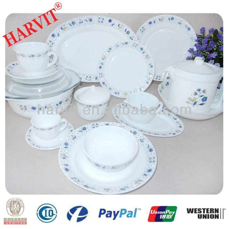 Opal Glass Tableware Opalware 58pc Dinner Sets/Heat Resistant Opal Glassware Dinner set/Opal Glass Corelle Dinnerware Sets