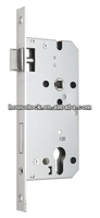 Standard Euro profile stainless steel fire rated cylinder mortise door handle lock with cylinder hole with CE certificate