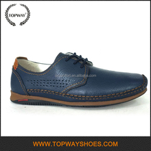 High Qualtiy Latest brand name formal casual Male blue gents men shoes
