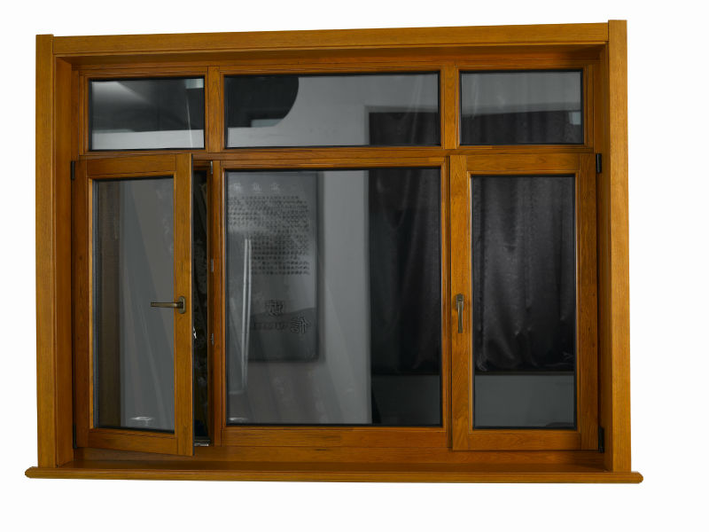 Durable residential building solid wood aluminum windows