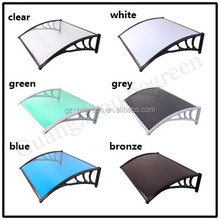 Plastic out door aluminum alloy.Polycarbonate awning,Window Canopy