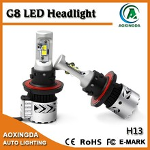 72W 12000LM G8 H13 Hi/Lo beam adjustable auto LED headlight bulb conversion kit with aviation aluminum 6063 body