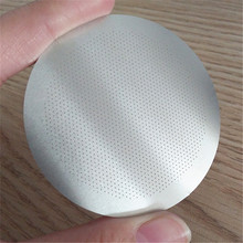 Reusable round stainless steel 18/8 coffee filter aeropress filter disc