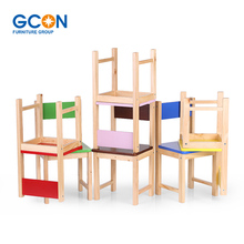 Primary School Furniture Wood Child Kids Chair Stool Or Table Set Stacking School Activity furniture