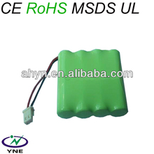 Shenzhen factory price rechargeable NIMH AAA 200mAh 4.8V rechargeable battery pack