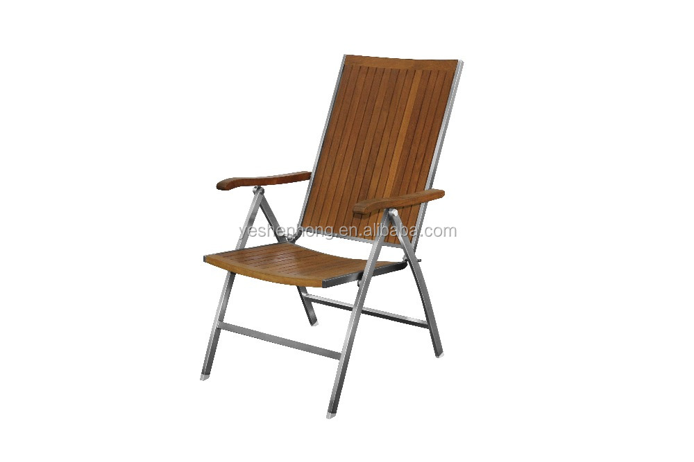 YSHoutdoor American style teakwood folding terrace garden chair
