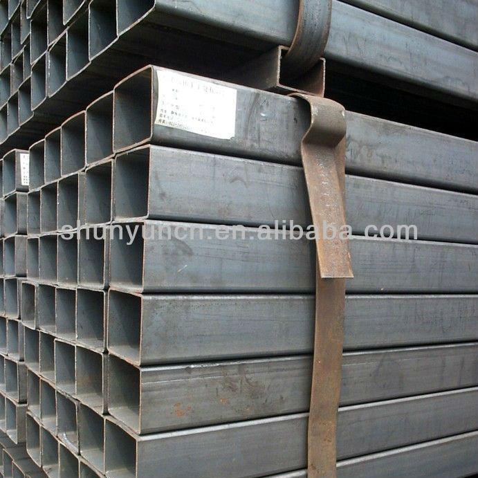 Carbon steel square with grade ASTM A36 A572 hot rolled squre pipe for project material made in china