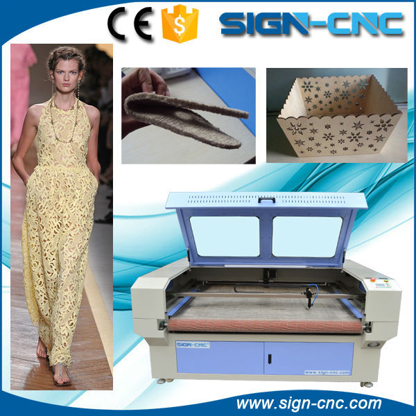 SIGN-CNC brand Auto-feeding laser cutting machine for rolls textile cutting