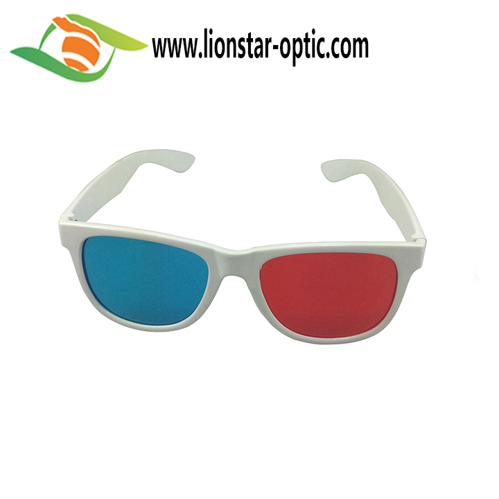 Universal 3D Plastic glasses Red Blue Cyan Movie Game 3D Anaglyph Vision Glasses