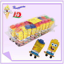 Chian sweet yellow cartoon shape toy with candy