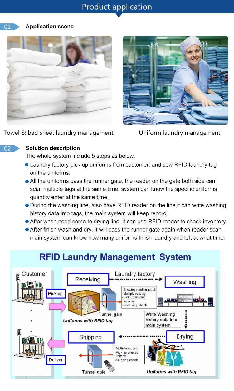high temperature resistance washable rfid uhf laundry tag