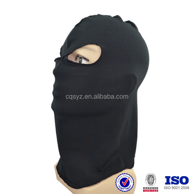 Custom China made high quality thin soft comfortable black color motorcyle ski full face protective balaclava face mask