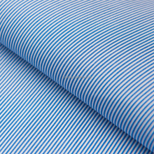 Luthai 100% cotton yarn dyed blue white stripe men's shirt fabric