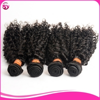 7A Mongolian kinky curly Virgin hair with Lace closure,3 Bundles human hair weave with closure