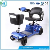 Mini four wheel electric disability scooter