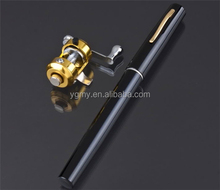 Portable Pocket Telescopic Aluminum Alloy Pen Shape Fishing Rod With Reel Wheel Fish Kits