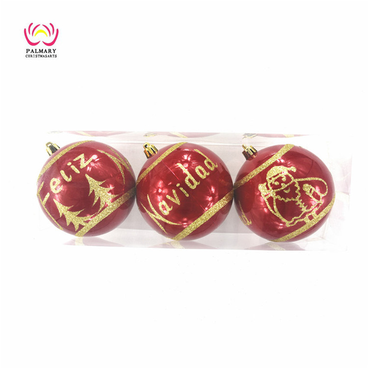 Factory wholesale 10CM custom painted christmas ball,Spanish christmas ball bauble,christmas ornament gift